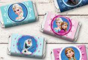 Disney Frozen Mini Candy Bar Wrappers Frozen by PartyAnimalPrints