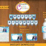 Disney Frozen Party kit - INSTANT DOWNLOAD - Frozen printables Frozen waterbottl...
