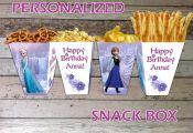 Disney Frozen Popcorn/ Snack Box, Digital PDF File, Personalized Frozen Printabl...