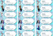Disney Frozen Printable Address Label by DreamalittleCraft on Etsy