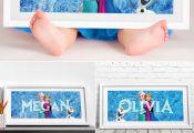 Disney Frozen Printable Art / Personalized Frozen Name Print / Elsa and Anna Nur...