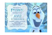 Disney Frozen Printable Birthday Party Invitation Olaf