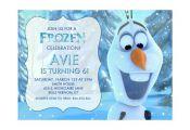 Disney Frozen Printable Birthday Party Invitation Olaf