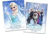 Disney Frozen Printable Birthday Party Invitation and Thank You Card