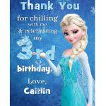 Disney Frozen Printable Birthday Party Thank You by squigglestudio, $7.00
