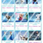 Disney Frozen Printable Digital Personalized Valentines Day Cards #4