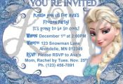 Disney Frozen Printable Editable Invitation by TheLovelyWildflower