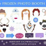 Disney Frozen Printable Photo Booth Props