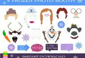 Disney Frozen Printable Photo Booth Props