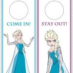 Disney Frozen Printables - Bookmarks, Door Hangers, Photo Frames, Stationery and...