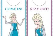 Disney Frozen Printables - Bookmarks, Door Hangers, Photo Frames, Stationery and...