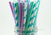 Disney Frozen Themed Birthday Party: Frozen Inspired Paper Straws