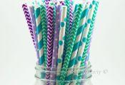 Disney Frozen Themed Birthday Party: Frozen Inspired Paper Straws