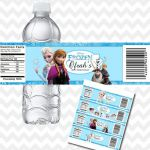 Disney Frozen Water Bottle Labels, Frozen Bottle Labels, Frozen Drink Wraps, Fro...