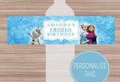Disney Frozen Water Bottle Labels  Personalized  by CeMariePrints