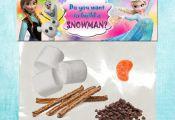 Disney Frozen snack label by DreamalittleCraft on Etsy, $3.00