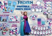 Disney's FROZEN Birthday party PRINTABLE by SweetHooplaCreations, $14.50
