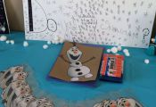 Do you wanna build a snowman craft at a Frozen party. Google for the free printa...
