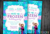 Double Frozen Printable Birthday Party by PeachyGraphics on Etsy