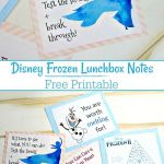 Download these free Disney Frozen printable lunchbox notes to surprise your chil...