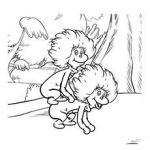 Dr Seuss Coloring Pages Thing One and Thing Two