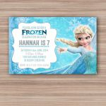 Elsa Frozen Birthday Invitation - Printable - Custom Download - Elsa Invite - Fr...