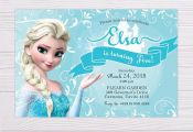 Elsa Invitation, Frozen Invitation, Elsa Invite, Frozen Invite, Elsa Printable I...