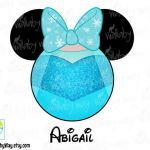 Elsa Mickey Head Disney Frozen Printable Iron On Transfer or Use as Clip Art - D...