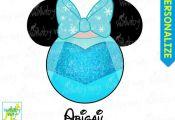 Elsa Mickey Head Disney Frozen Printable Iron On Transfer or Use as Clip Art - D...