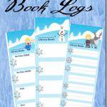 FREE Disney Frozen Printable LIbrary Book Logs #disney #disneykids #homeschoolin...