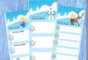 FREE Disney Frozen Printable LIbrary Book Logs #disney #disneykids #homeschoolin...
