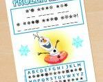 FREE Frozen Printable Decode Olaf's Secret Message