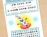 FREE Frozen Printable Decode Olaf's Secret Message