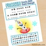 FREE-Frozen-Printable-Decode-Olaf's-Secret-Message FREE Frozen Printable Decode Olaf's Secret Message Cartoon