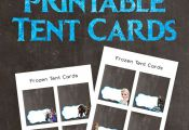 FREE Frozen Printable Tent Cards (olaf, elsa, frozen birthday party) innerdesign...