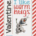 FREE Olaf (Disney's Frozen) Printable Valentines