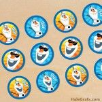 FREE-Printable-Frozen-Olaf-Cupcake-Toppers FREE Printable Frozen Olaf Cupcake Toppers Cartoon