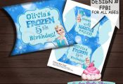 FROZEN BIRTHDAY PARTY Pillow Box Favor by CustomPartyShoppe, $6.00