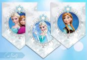 FROZEN Banners - Frozen Printables - Frozen Birthday Party Banners - INSTANT DOW...