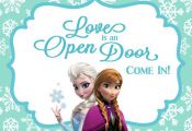 FROZEN Birthday Party Welcome Sign Love is an by CelebrationSmiles