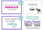FROZEN Easter Basket Treat Tags (free printables) via sisterssuitcasebl... #East...