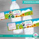 FROZEN FEVER water bottle labels print yourself Frozen