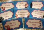 FROZEN FOOD TENTS, cards, labels, Instant Download, Fill in the blank, Printable...