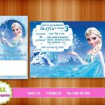 FROZEN INVITATION, frozen birthday, frozen party, frozen, invitation, elsa, froz...