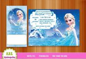 FROZEN INVITATION, frozen birthday, frozen party, frozen, invitation, elsa, froz...