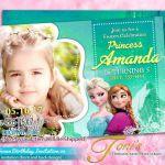 FROZEN Invitation, Frozen Birthday Invitation, Aqua Blue, Frozen Photo Invitatio...