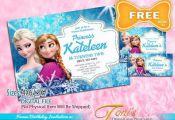FROZEN Invitation, Frozen Birthday Invitation, FREE Frozen Thank You Card & Tag,...