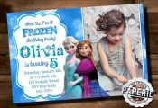 FROZEN PRINTABLE INVITATION Custom Frozen by PinkFrostingPaperie