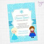 FROZEN Party Invitation - Frozen Birthday Invitation - Frozen themed birthday pa...