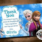 FROZEN Printable THANK YOU card, Custom Frozen Invitation For Girls Birthday Par...